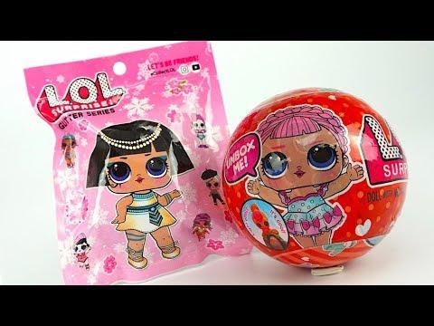 Куколки и сюрпризы лол, красные шары lol