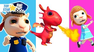Dolly and Friends 3D | Kids Play Hide and Seek with Color Cabins & Dragon Kid #240