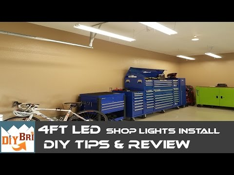 Installing Led Shop Light | Easy How to Instructions | 4FT LED Shop Lights