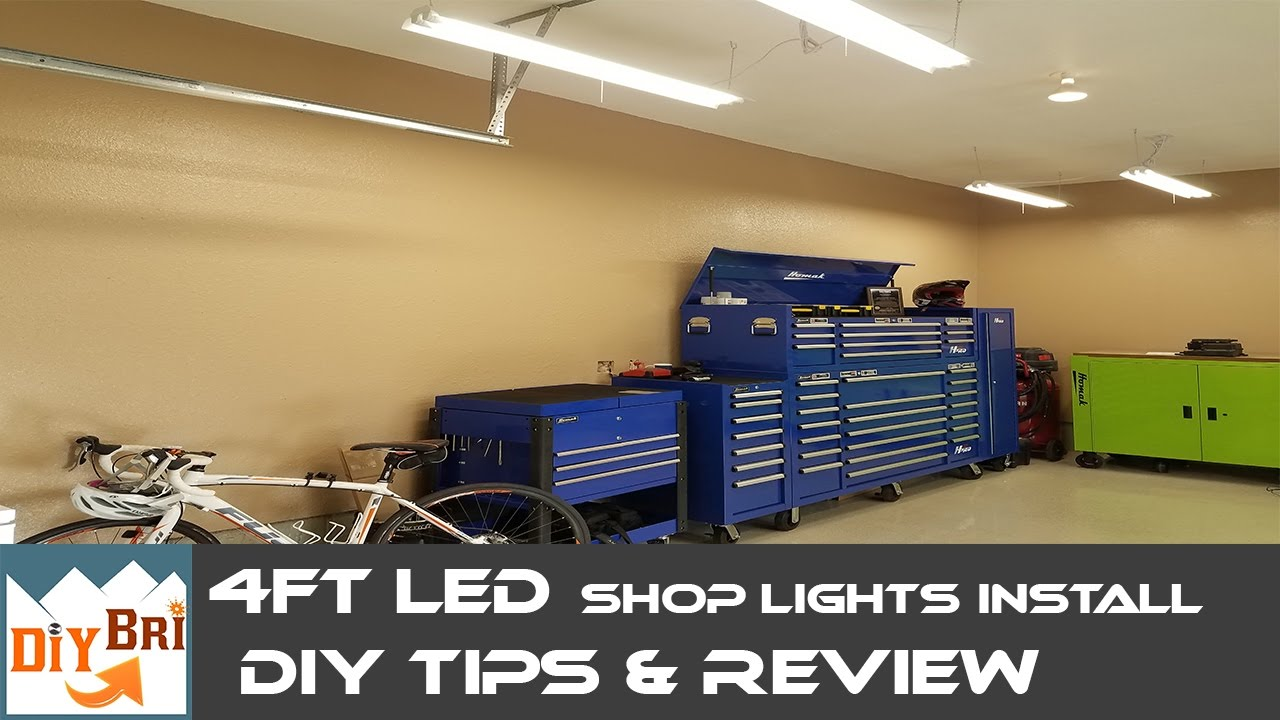 installing led shop light easy how to instructions 4ft led shop lights [ 1280 x 720 Pixel ]