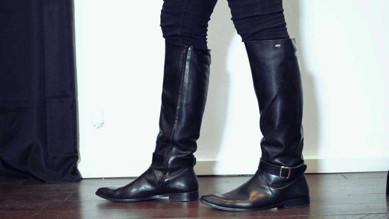 576025dae Knee high boots for men - Model 400 - YouTube