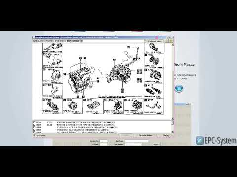 Электронный каталог запчастей Mazda Europe EPC
