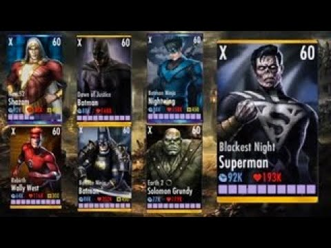 Injustice Final Bosses In One Video/ Injustice Gods Among Us! IOS/ANDROID