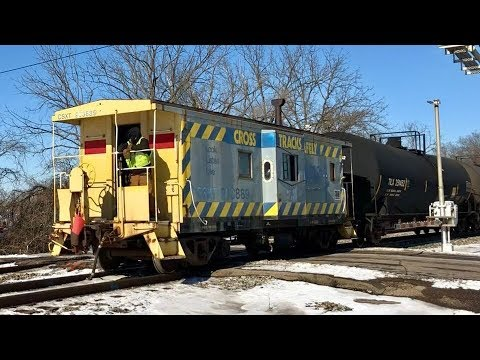 CSX Caboose, Frozen Conductor Leads Train, Tropicana Snow Covered