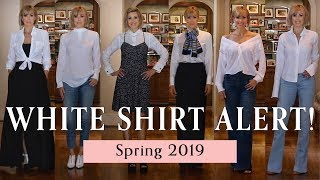 Six WOW Ways to Wear a White Button Down Shirt! | Dominique Sachse