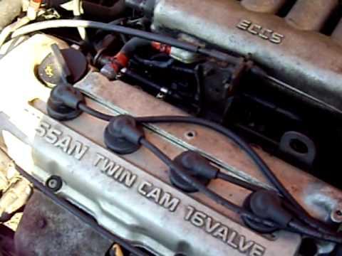 1993 Nissan NX 1600 engine running - YouTube