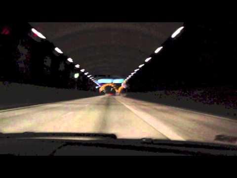 Lamborghini driving fast in Stockholm