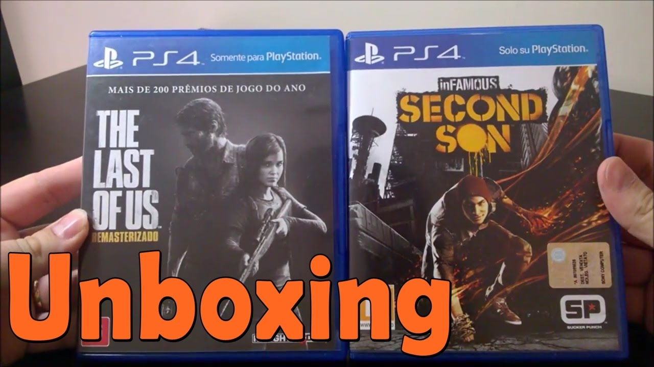 The last of Us Remastered \ Infamous Second Son - PS4 - UNBOXING