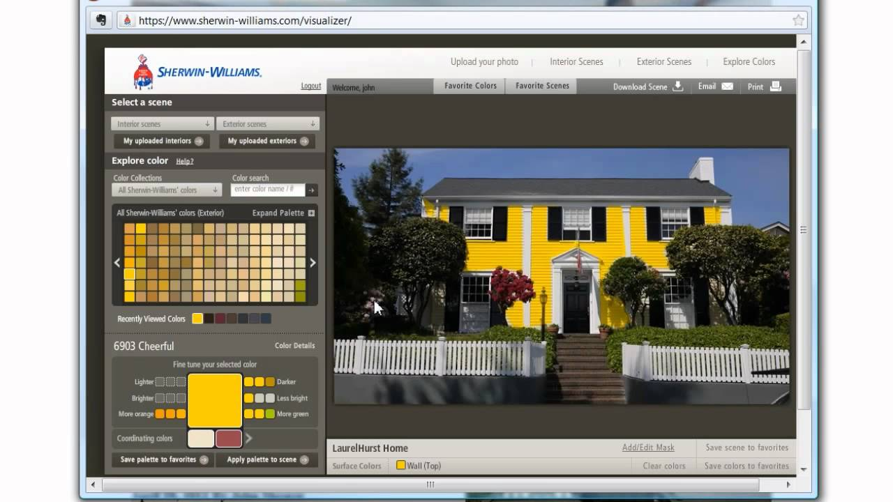 How to use the sherwin williams color tool to pick house - How to pick paint colors ...