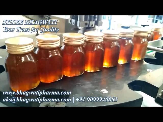 Honey Filling Machine and Aluminium ROPP Cap Sealing Machine for Glass and Pet Bottles