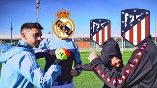 ATLETICO DE MADRID VS REAL MADRID *RETOS DE FÚTBOL*