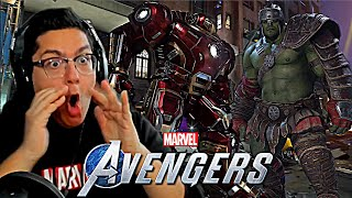 Marvel's Avengers Game - HULKBUSTER, ALTERNATE SUITS AND CO-OP GAMEPLAY REACTION!