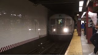 ᴴᴰ R32 - Jamaica Center bound J train enters Delancey Street - Essex street, with OPTO M Train