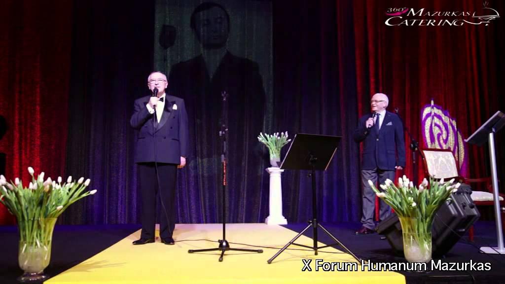 X Forum Humanum Mazurkas- otwarcie koncertu-prezesi Mazurkas-Andrzej Bartkowski i Andrzeja Hulewicz
