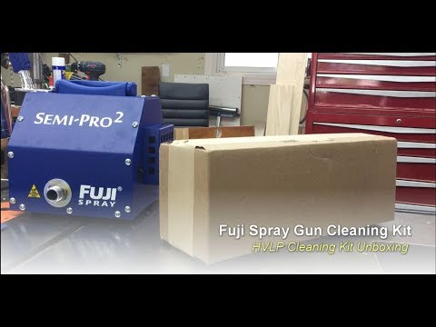 Fuji HVLP Spray Gun Cleaning Kit Unboxing