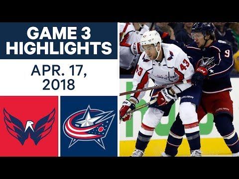 NHL Highlights | Capitals vs. Blue Jackets, Game 3 - Apr. 17, 2018
