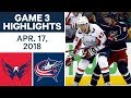 NHL Highlights | Capitals vs. Blue Jackets, Game 3 - Apr. 17, 2018