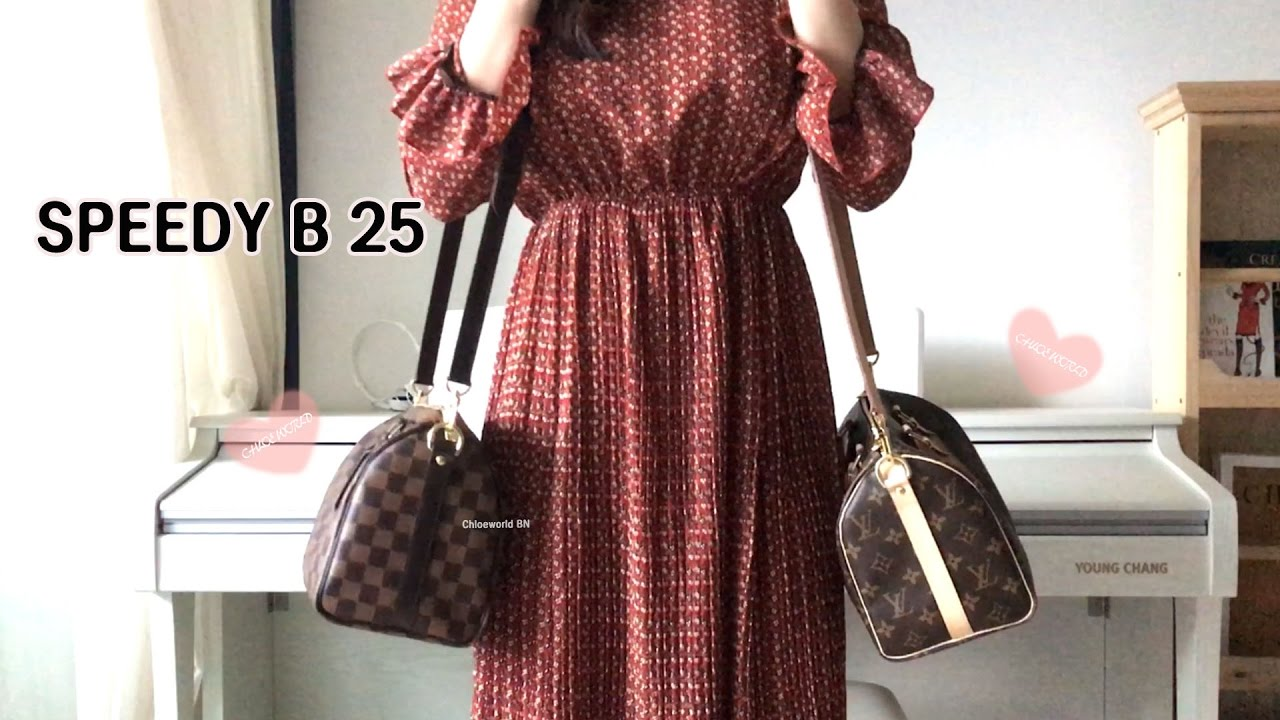 4f80eff72c0a Louis Vuitton Speedy B 25 Damier Ebene VS Monogram