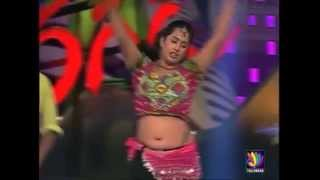 Hot Telugu TV Actress Sravani Navel in Dance Show