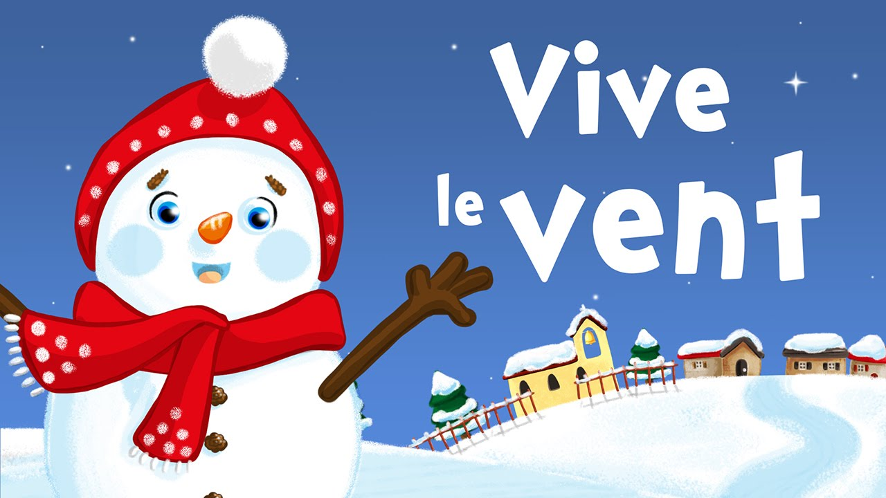 Jingle Bells in French (Vive le Vent) - Christmas song for kids with ...