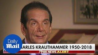 Pulitzer-prize winning columnist Charles Krauthammer dies at 68 - Daily Mail