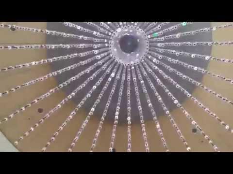 Crazy LED chandelier at Google HQ!
