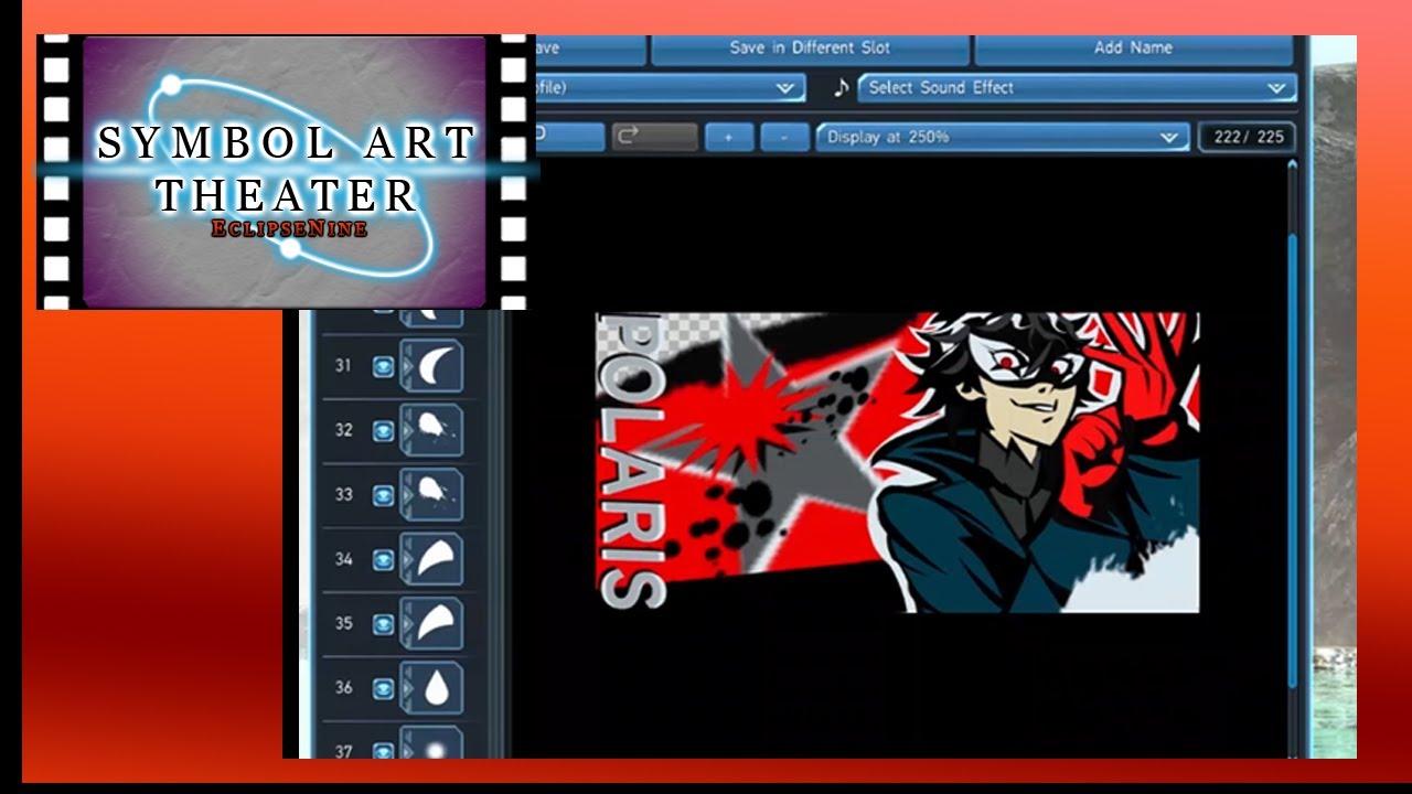 PSO2 Symbol Art Theater: Persona 5, Joker - YouTube