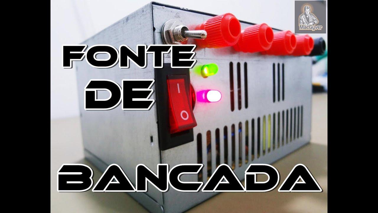 COMO FAZER UMA FONTE DE BANCADA COM FONTE ATX DE