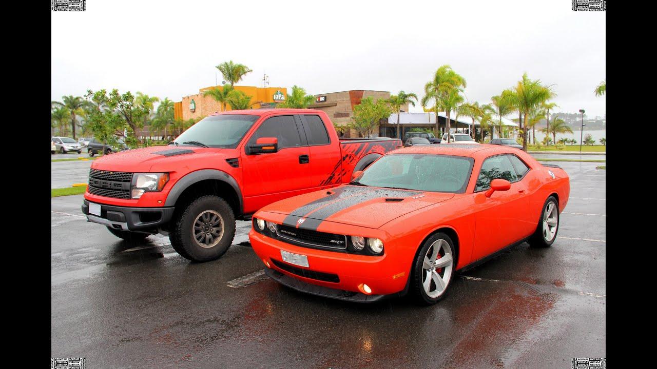 Dodge Challenger Srt8 Amp Ford F150 Raptor Svt Youtube