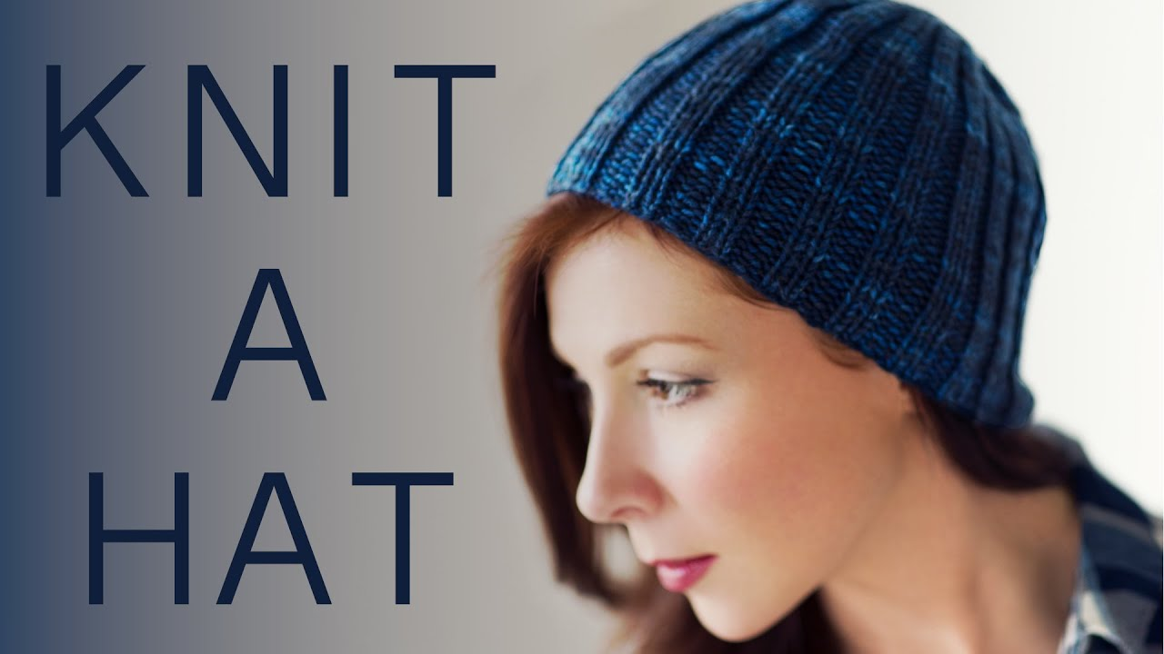 2a3fbc2020f How to Knit a Basic Beanie Hat for Beginners - YouTube
