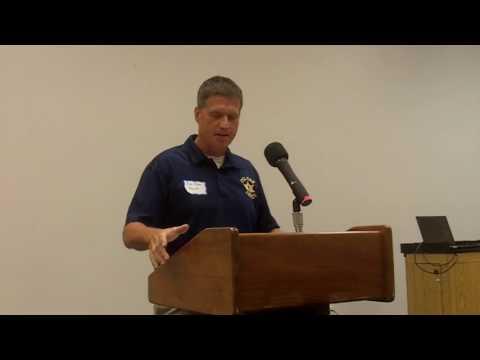 Franklin County (Missouri) Sheriff Pelton at Union First Responders Forum