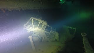 Керченские дайверы обследовали затонувший военный корабль