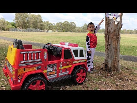 Download Youtube: Paw Patrol Marshall NEW Fire Engine Ride On Rescue Cali From Tree Ckn Toys
