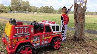 Paw Patrol Marshall NEW Fire Engine Ride On Rescue Cali From Tree Ckn Toys thumbnail