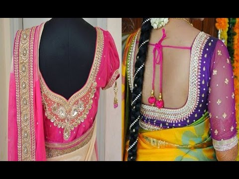 49f955536b55e Beautiful Blouse Designs With Bridal Maggam Work Blouse Kundan ...