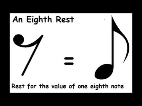 The Eighth Rest - Short Lesson - Basic Music Theory Lesson