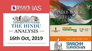 'The Hindu' Analysis for 16th October, 2019 (Current Affairs for UPSC/IAS)