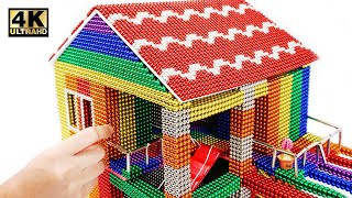 DIY - How To Build Mini House Model From 100000 Magnetic Balls ( Satisfying ) | Magnet World 4K