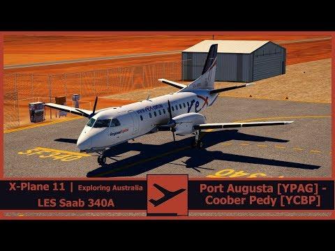 Exploring Australia | Port Augusta [YPAG] - Coober Pedy [YCBP] | ZL4412 | X-Plane 11 | LES Saab 340A