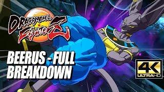 BEERUS - Supers, Combos & Breakdown: DragonBall FighterZ