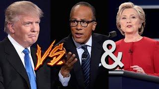 Donald Trump vs Lester Holt and Hillary Clinton Debate Recap - Monday, September 26 2016 - 9.26.16
