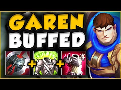 THESE NEW GAREN BUFFS MAKE HIM UNKILLABLE! NEW GAREN TOP GAM