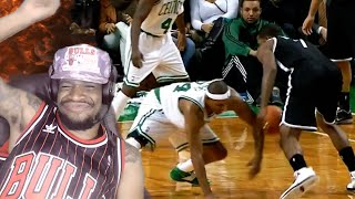 He's on all fours! the top 10 nba crossovers of all time reaction!