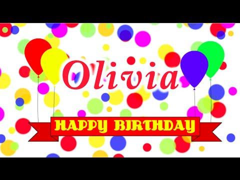 Happy Birthday Olivia Song Youtube