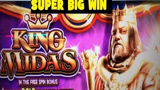 ★SUPER BIG WIN★☆KING MIDAS Slot machine (WMS)☆The power of 10 x !  $1.50 Bet 栗スロット