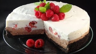 Raspberry Chocolate No-bake Cheesecake -with Yoyomax12