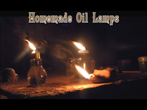 Making Homemade Oil Lamps