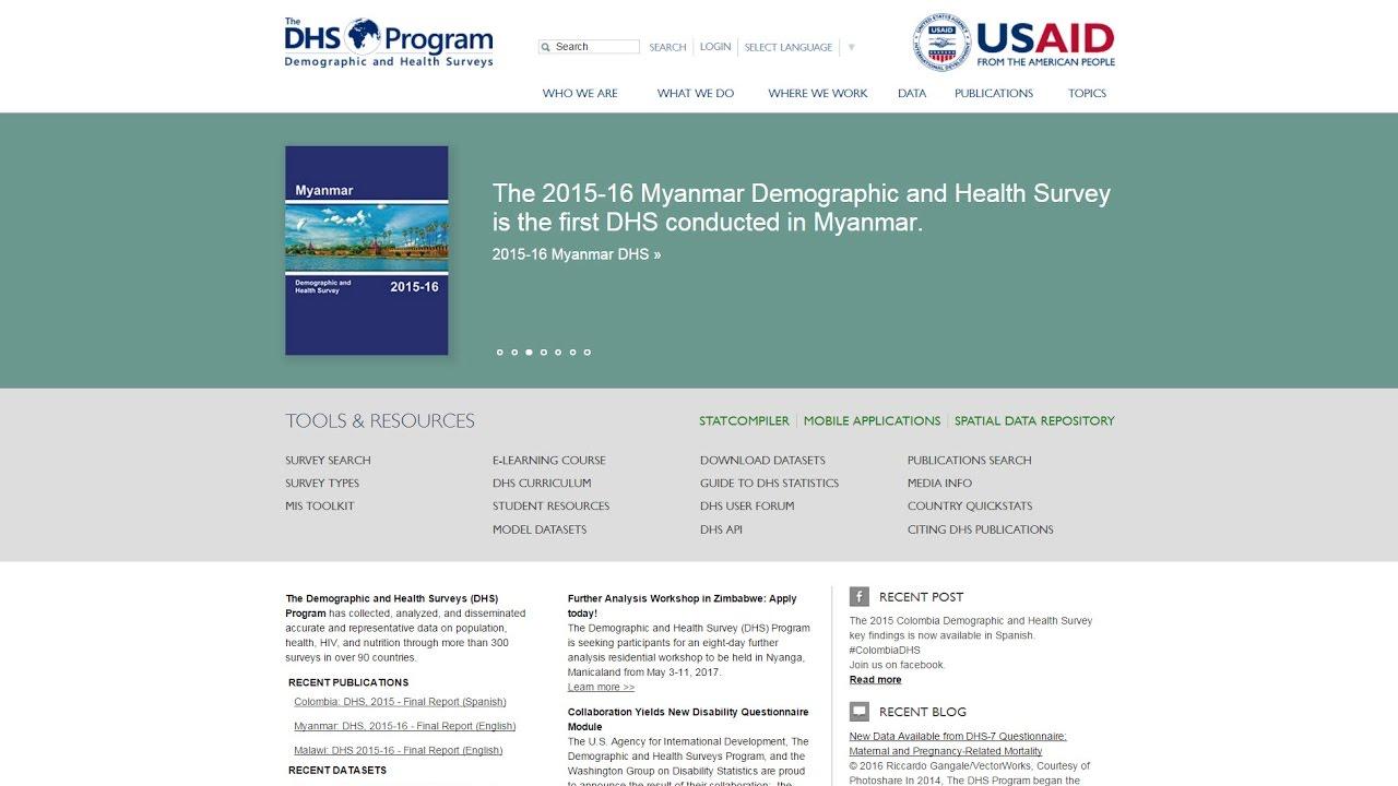 The DHS Program - Data