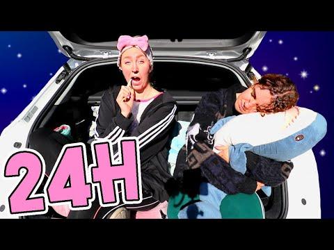 Watch : Spenderar 24H i bilen med Hedd...