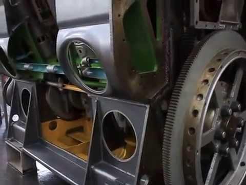 Como Funciona Locomotiva com Motor V16 V12 V8 GM em corte - Garagem ALL